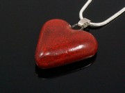 Touch of Fire Small Heart Pendant