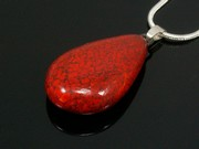 Touch of Fire Teardrop Pendant
