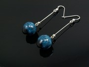 Deep Waters Ball Dangle Earrings