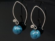 Deep Waters Ball Swirl Earrings