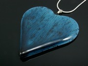 Deep Waters Large Heart Pendant