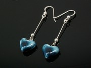 Deep Waters Small Heart Dangle Earrings