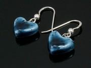 Deep Waters Small Heart Earrings