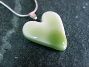 Gorgeous Green Small Heart Pendant