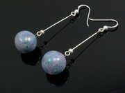 Lakeland Heather Ball Dangle Earrings