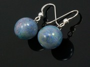 Lakeland Heather Ball Earrings