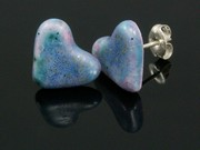 Lakeland Heather Heart Studs