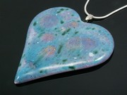 Lakeland Heather Large Heart Pendant