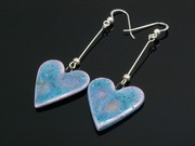Lakeland Heather Large Heart Dangle Earrings
