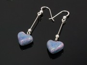 Lakeland Heather Small Heart Dangle Earrings