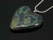 Lakeland Moss Medium Heart Pendant