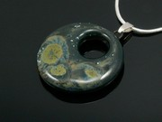 Lakeland Moss Small Drop Circle Pendant