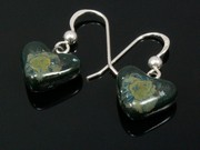 Lakeland Moss Small Heart Earrings