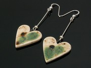 Lakeland Path Large Heart Dangle Earrings