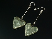 Misty Hills Large Heart Dangle Earrings