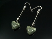 Misty Hills Small Heart Dangle Earrings