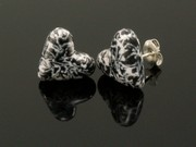 Snowy Crags Heart Studs