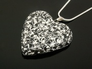 Snowy Crags Medium Heart Pendant