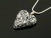 Snowy Crags Small Heart Pendant