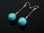 Sunlit Waters Ball Dangle Earrings