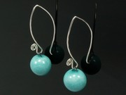 Sunlit Waters Ball Swirl Earrings