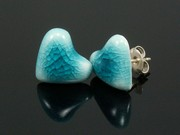 Sunlit Waters Heart Studs