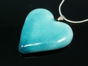 Sunlit Waters Medium Heart Pendant