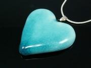 Sunlit Waters Medium Heart Pendant