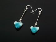 Sunlit Waters Small Heart Dangle Earrings