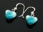 Sunlit Waters Small Heart Earrings