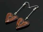 Timeless Copper Large Heart Dangle Earrings