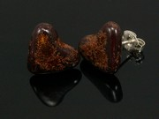 Timeless Copper Heart Studs