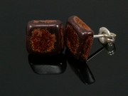 Timeless Copper Square Studs
