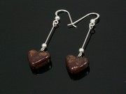 Timeless Copper Small Heart Dangle Earrings