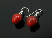 Touch of Fire Ball Earrings