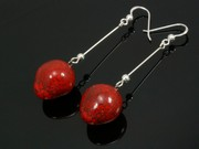 Touch of Fire Ball Dangle Earrings