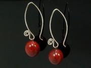 Touch of Fire Ball Swirl Earrings