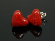 Touch of Fire Heart Studs
