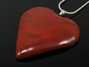 Touch of Fire Large Heart Pendant