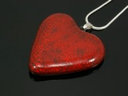 Touch of Fire Medium Heart Pendant