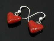 Touch of Fire Small Heart Earrings
