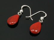 Touch of Fire Teardrop Earrings