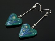 Ullswater Large Heart Dangle Earrings